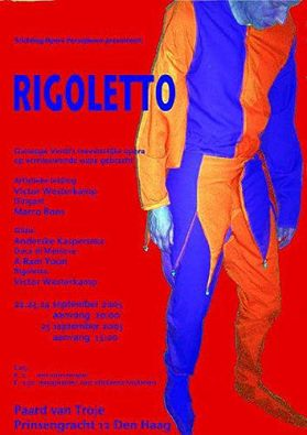Affiche Rigoletto red version